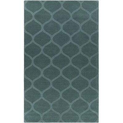 Mystica Hand-Tufted Teal Area Rug Rug Size: 8 x 11