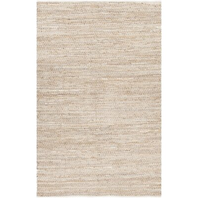 Polito Hand-Woven Beige Area Rug Rug Size: 7'9