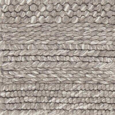 Penn Hand-Woven Gray Area Rug Rug Size: 79 x 106