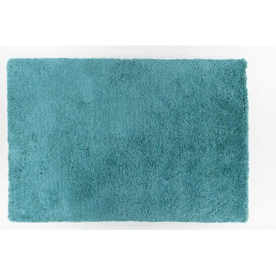 Garretson Hand-Woven Turquoise Area Rug Rug Size: 79 x 106