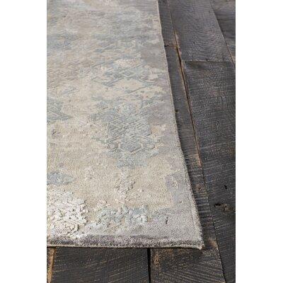 Vingel Hand-Knotted Beige Area Rug Rug Size: 79 x 106