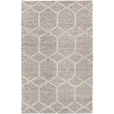 Saltzman Hand-Woven Taupe Area Rug Rug Size: 79 x 106