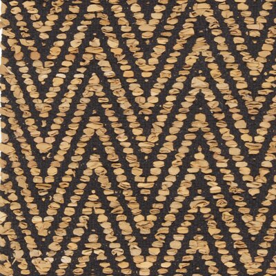 Salley Hand-Woven Gold/Black Area Rug Rug Size: 79 x 106