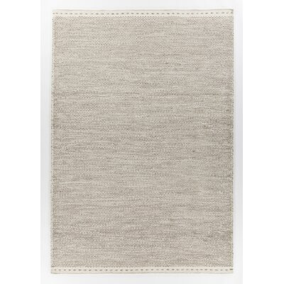 Speaks Hand-Woven Gray/White Area Rug Rug Size: 79 x 106