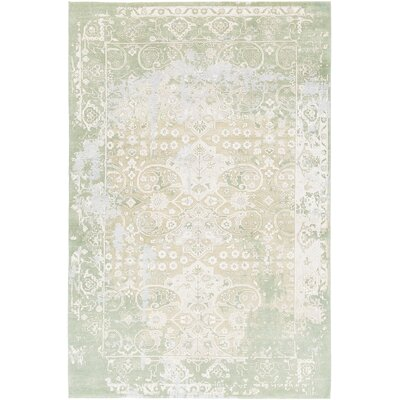 Rodericks Hand-Knotted Green Area Rug Rug Size: 79 x 106