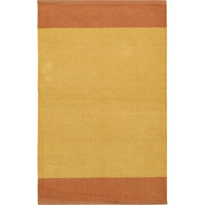 Bath Area Rug Size: 2 x 3, Color: Orange