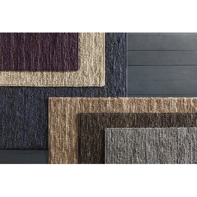 Arlene Textured Jute Brown Area Rug Rug Size: 79 x 106