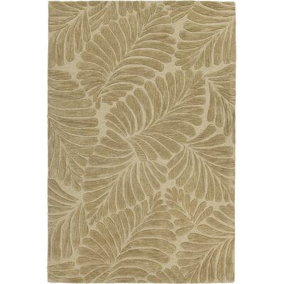 Yelena Hand-Tufted Olive Green Area Rug Rug Size: 79 x 106