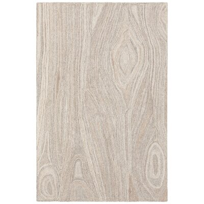 Alhambra Hand-Tufted Tan/Gray Area Rug Rug Size: 79 x 106