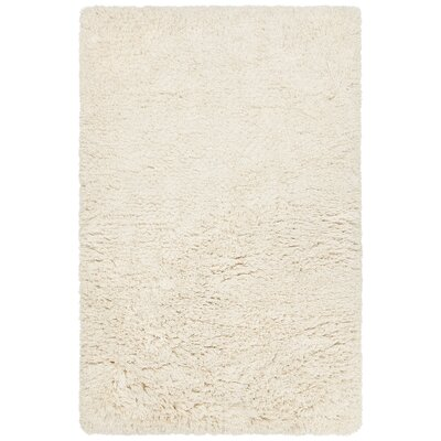 Terrel Hand-Woven Cream Area Rug Rug Size: 79 x 106