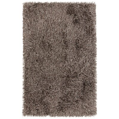 Faust Hand-Woven Solid Brown Area Rug Rug Size: 79 x 106