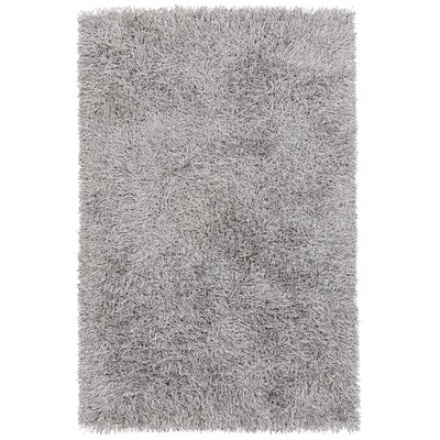 Nora Hand-Woven White/Black Area Rug Rug Size: 79 x 106
