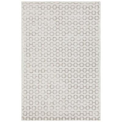 Arctarus Hand-Woven Silver Area Rug Rug Size: 79 x 106