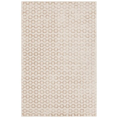 Arctarus Hand-Woven Beige Area Rug Rug Size: 79 x 106