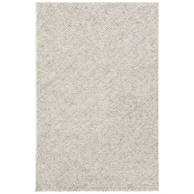 Ira Hand-Woven Gray Area Rug Rug Size: 79 x 106