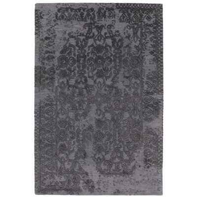 Xia Hand-Tufted Gray/Black Area Rug Rug Size: 79 x 106