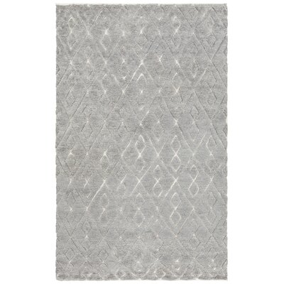 Catalina Hand-Knotted Gray Area Rug Rug Size: 79 x 106
