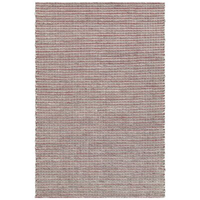 Lena Hand-Woven Red/Black Area Rug Rug Size: 79 x 106