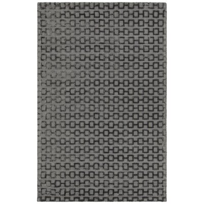 Hallie Hand-Woven Charcoal Area Rug Rug Size: 5 x 76