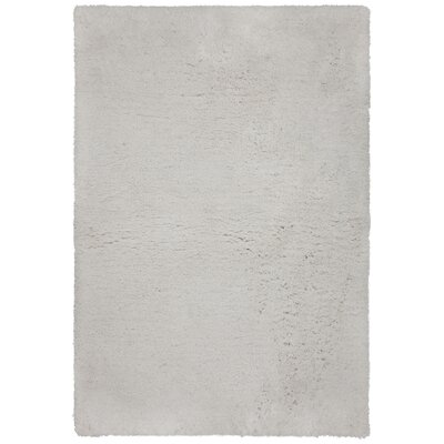 Salyers Hand-Tufted White Area Rug Rug Size: 79 x 106