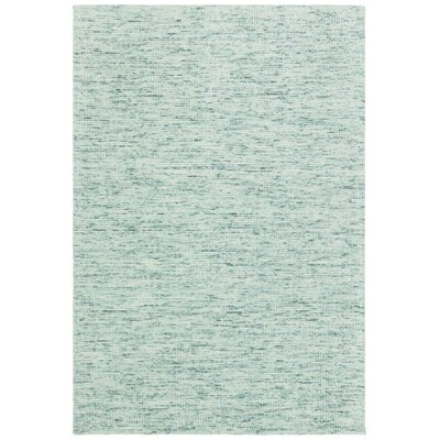Cunningham Hand-Woven Green Area Rug Rug Size: 79 x 106