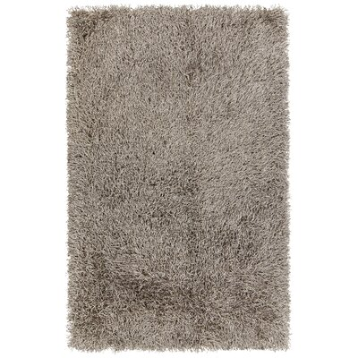Faust Hand-Woven Brown Area Rug Rug Size: 79 x 106