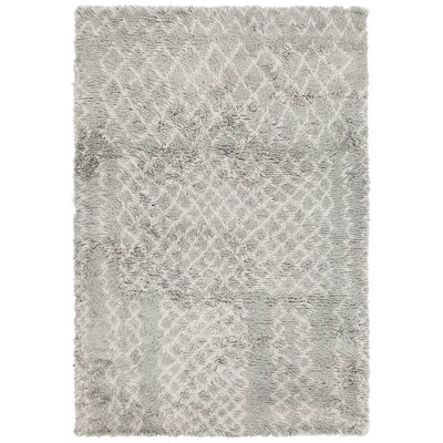 Altamont Hand-Knotted Gray Area Rug Rug Size: 79 x 106