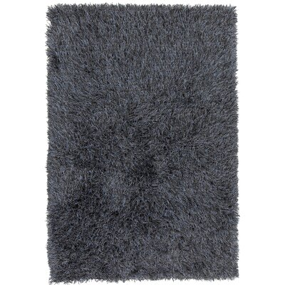 Boomer Hand-Woven Black Area Rug Rug Size: 79 x 106