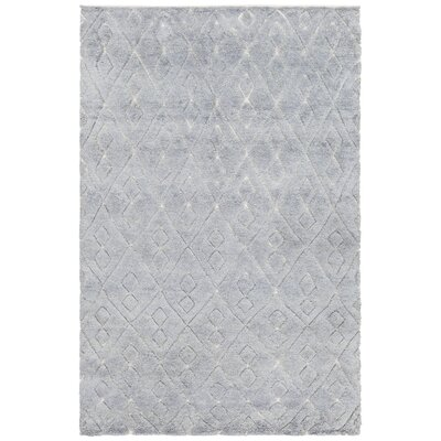 Catalina Hand-Knotted Blue Area Rug Rug Size: 79 x 106