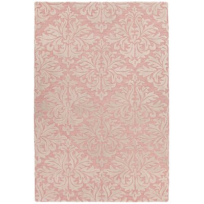 Boothe Hand-Tufted Pink/Ivory Area Rug Rug Size: 5 x 76