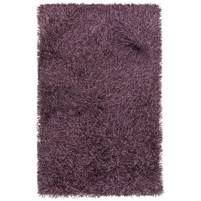 Faust Hand-Woven Purple Area Rug Rug Size: 79 x 106