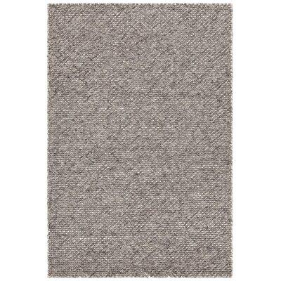 Sylvan Hand-Woven Dark Gray Area Rug Rug Size: 5 x 76