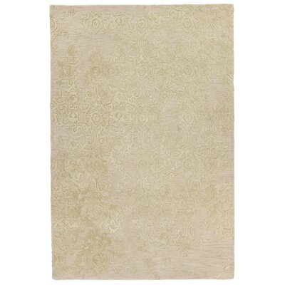 Xia Hand-Tufted Ivory/Yellow Area Rug Rug Size: 79 x 106
