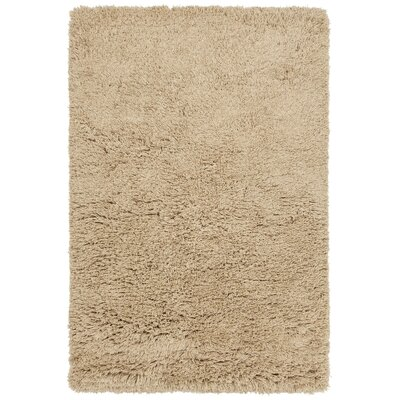 Noely Hand-Woven Tan Area Rug Rug Size: 79 x 106