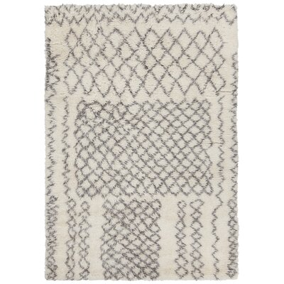 Altamont Hand-Knotted Ivory/Gray Area Rug Rug Size: 79 x 106