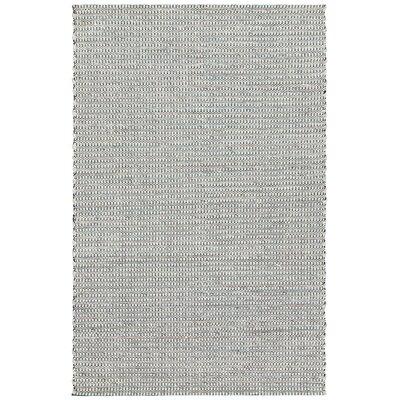 Lena Hand-Woven Teal/Black Area Rug Rug Size: 79 x 106