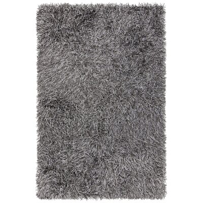 Faust Hand-Woven Gray Area Rug Rug Size: 79 x 106