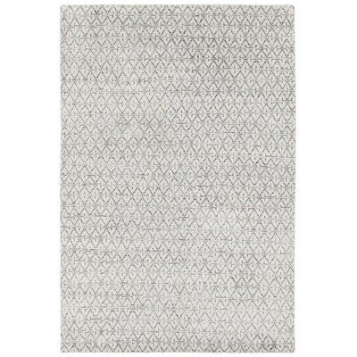 Denwood Hand-Knotted Gray/Blue Area Rug Rug Size: 79 x 106