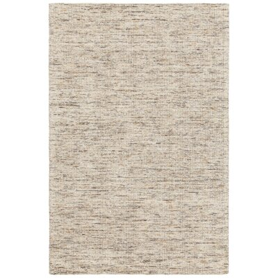 Cunningham Hand-Woven Beige Area Rug Rug Size: 79 x 106