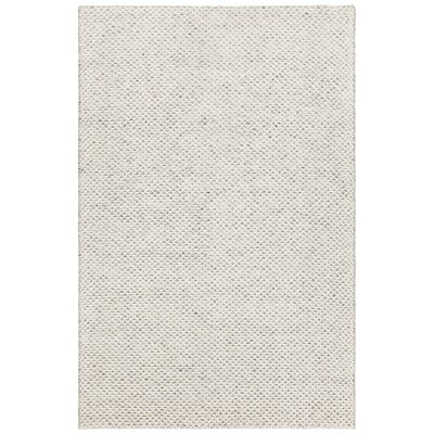 Ira Hand-Woven White Area Rug Rug Size: 79 x 106