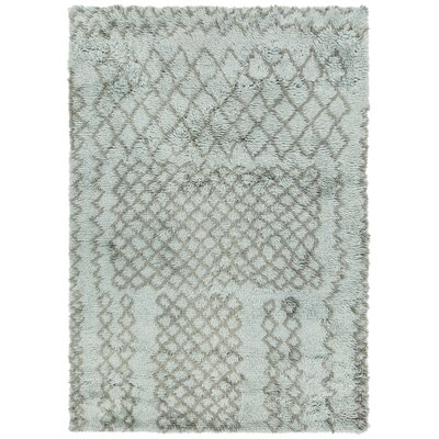 Altamont Hand-Knotted Teal/Gray Area Rug Rug Size: 5 x 76