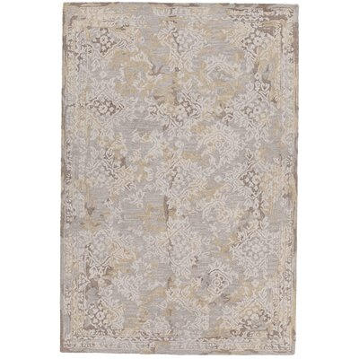 Zyana Hand-Tufted Gray/Beige Area Rug Rug Size: 79 x 106