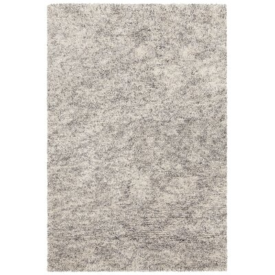 Izzie Hand-Woven Cream/Gray Area Rug Rug Size: 79 x 106