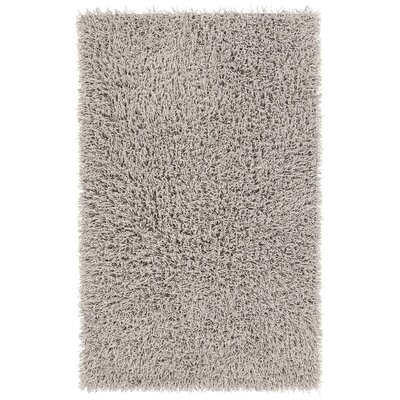 Adahy Hand-Woven Gray Area Rug Rug Size: 79 x 106