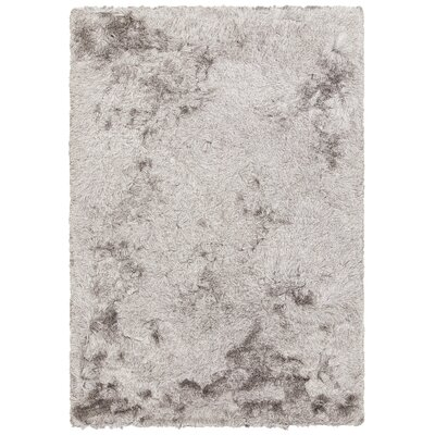 Quenby Hand-Woven Silver Area Rug Rug Size: 5 x 76