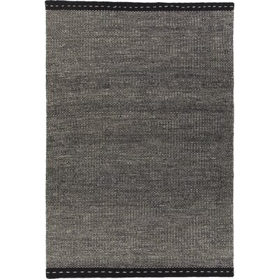 Speaks Hand-Woven Gray/Black Area Rug Rug Size: 79 x 106