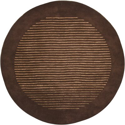 Laurent Brown/Tan Area Rug Rug Size: Round 79