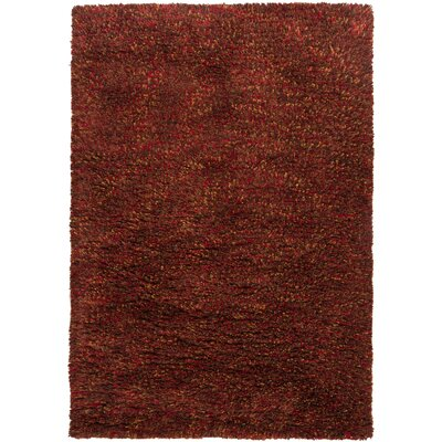 Aviles Red Area Rug Rug Size: Rectangle 9 x 13