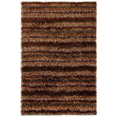 Dorothy Dark Brown Area Rug Rug Size: 79 x 106