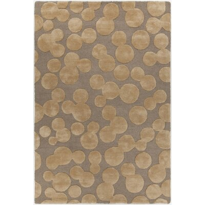 Augustus Hand-Tufted Brown Area Rug Rug Size: Round 79